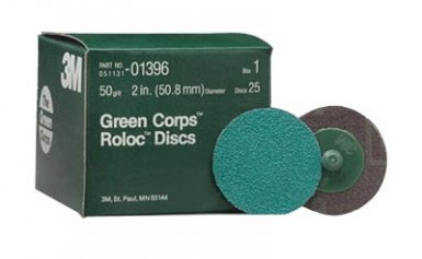 3M 60650010063 Abrasive Green Corps Roloc Discs
