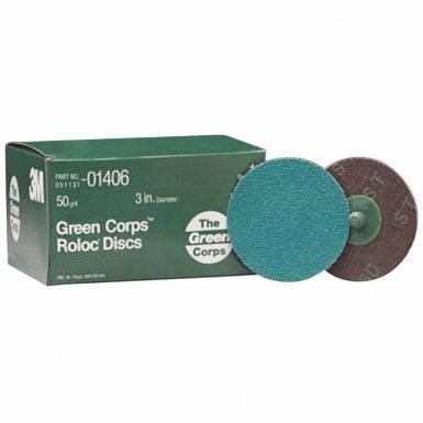 3M 60650006319 Abrasive Green Corps Roloc Discs