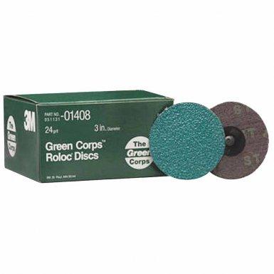 3M 60650006335 Abrasive Green Corps Roloc Discs