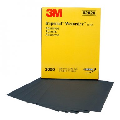 3M 7000028328 Abrasive Wetordry Paper Sheets