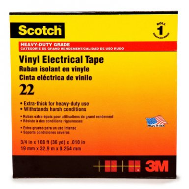 3M Electrical Scotch Heavy-Duty Vinyl Insulation Tapes 22