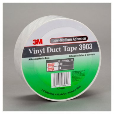 3M 7100145926 Industrial 3903 Vinyl Duct Tapes