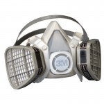 3M 50051100000000 Personal Safety Division 5000 Series Half Facepiece Respirators