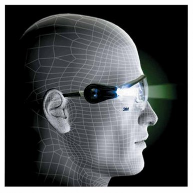 3M 10078400000000 Personal Safety Division Light Vision 2 Protective Eyewear