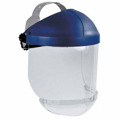 3M 10078400000000 Personal Safety Division Ratchet Headgear, Head & Face Protection with Clear Chin Protector