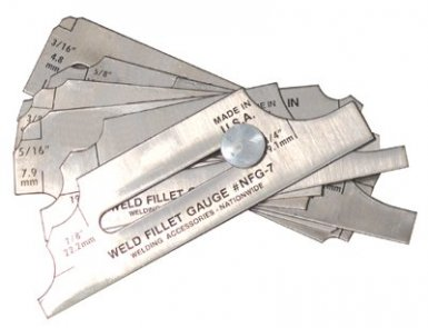 Anchor Brand NFG-7 Weld Fillet Gauges
