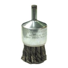 Anderson Brush 12071 Knot Wire End Brushes-NH Series-Hollow End-Swaged Cup