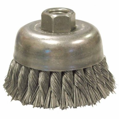 Anderson Brush 16635 Knot Wire Cup Brush-Double Row-UDX Series