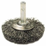 Anderson Brush 9034 Stem Mounted Flared Crimped Wire Cup Brushes-SSMF Series