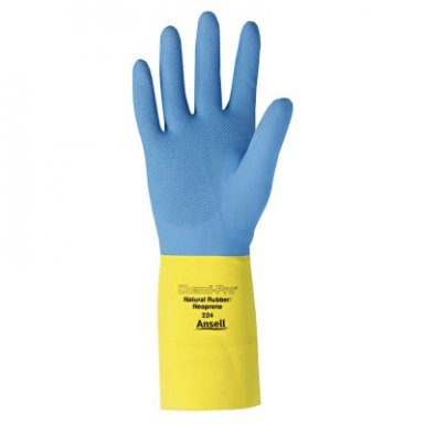 Ansell 87-224-10 Chemi-Pro Unsupported Neoprene Glove