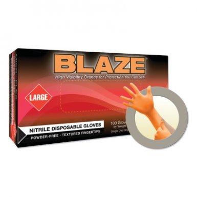 Ansell 683438144838 Microflex Blaze N48 Nitrile Exam Gloves