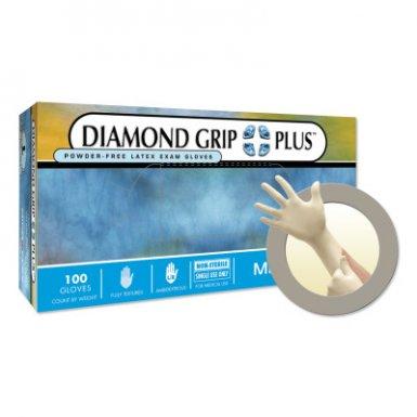 Ansell 769799140099 Microflex Diamond Grip Plus DGP-350 Latex Exam Gloves