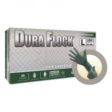 Ansell 769799608094 Microflex Dura Flock DFK-608 Disposable Nitrile Gloves