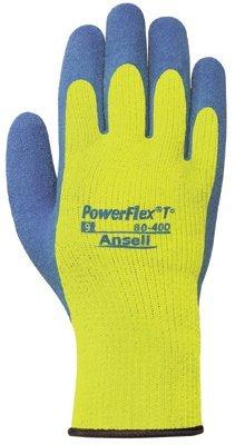 Ansell 80-400-7 PowerFlex T Hi Viz Yellow Gloves