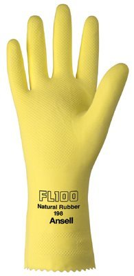 Ansell 185750 Unsupported Latex Gloves