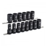 Apex 84972 14 Pc. 6 Point Deep Impact Metric Socket Sets