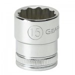 Apex 80491 3/8 in Drive 6 and 12 Point Metric Standard Length Sockets