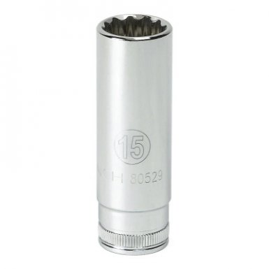 Apex 80408 3/8 in Drive 6 and 12 Point Metric Deep Length Sockets