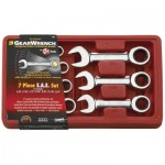 Apex 9507D 7 Pc. Stubby Combination Ratcheting Wrench Sets