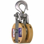 Apex 7267186 Campbell Safety Locking Drop Link Manila Rope Snatch Blocks