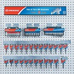 Apex CMHTHTB Crescent 27 Piece Hex and Torx Bit Socket Display