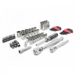 Apex CTK84CMPN Crescent 6 & 12 Point Standard & Deep SAE/Metric Mechanics Tool Sets