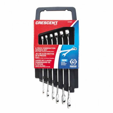 Apex CCWS1 Crescent 6 Piece SAE/Metric Combination Wrench Sets