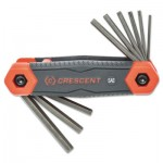 Apex CHKFSAE9 Crescent Folding Hex Key Sets