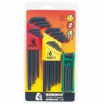 Bondhus 14138 Balldriver L-Wrench and Fold-Up Set Combinations