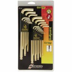 Bondhus 20899 GoldGuard Balldriver L-Wrench Combination Sets