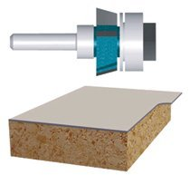 Bosch Power Tools 85415M Carbide-Tipped Ball Bearing Pilot Laminate Trimmer Assembly Router Bits