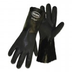 Boss 1SP0714 Jersey Lined Double Dipped Black PVC Coated Gloves