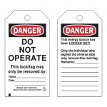 Brady 66051 Economy DANGER Do Not Operate Energy Source Lockout Tagout Tags