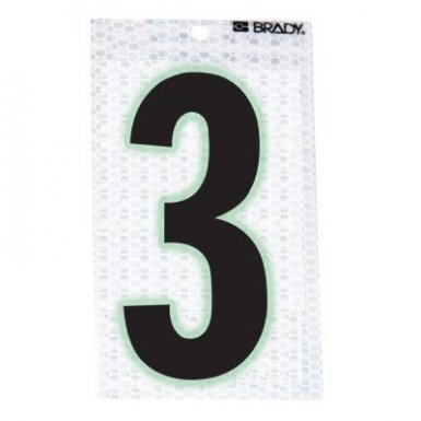 Brady 3010-3 Glow-In-The-Dark/Ultra Reflective Numbers