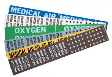 Brady 90329 Medical Gas Pipe Markers