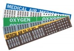 Brady 90333 Medical Gas Pipe Markers