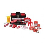 Brady 105955 Personal Valve and Electrical Lockout Toolbox Kits with 3 Padlocks