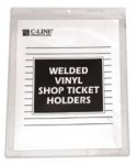 C-Line Products, Inc. CLI80912 Welded Vinyl Shop Ticket Holders