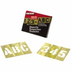 C.H. Hanson 10075 Brass Stencil Letter & Number Sets