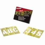 C.H. Hanson 10155 Brass Stencil Letter & Number Sets