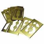C.H. Hanson 10161 Brass Stencil Gothic Style Number Sets