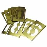C.H. Hanson 10162 Brass Stencil Gothic Style Number Sets