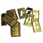 C.H. Hanson 10165 Brass Stencil Gothic Style Letter Sets