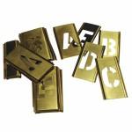 C.H. Hanson 10167 Brass Stencil Gothic Style Letter Sets