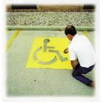 C.H. Hanson 12438 Handicap Symbol Stencils