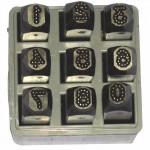 C.H. Hanson 26641 Low Stress Dot Design Steel Hand Stamp Sets