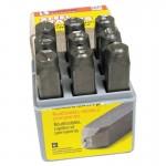 C.H. Hanson 26681 Low Stress Dot Design Steel Hand Stamp Sets