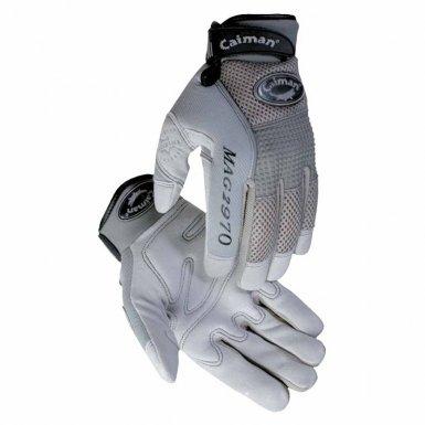 Caiman 2970-S Gray Deerskin Leather Gloves