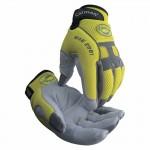 Caiman 2981-S Hi-Viz Deerskin Leather Palm Gloves