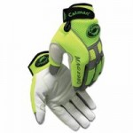 Caiman 2980-XL White Goat Grain Leather Multi-Activity Gloves